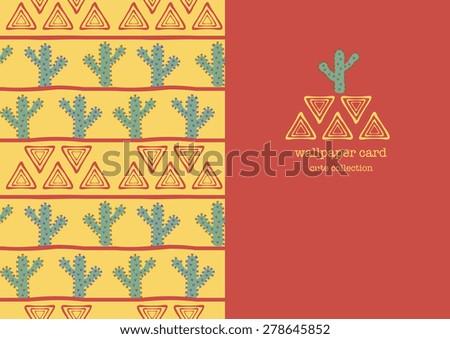 wallpaper card cactus collection