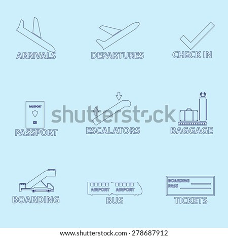airport signs for planes