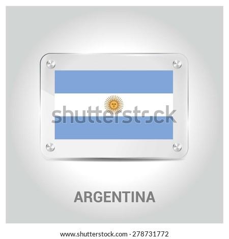 vector argentina flag glass