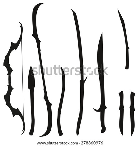 fantasy weapon set elves