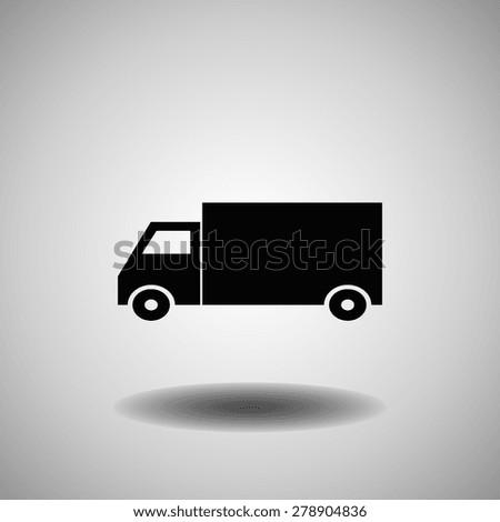 lorry icon  vector illustration
