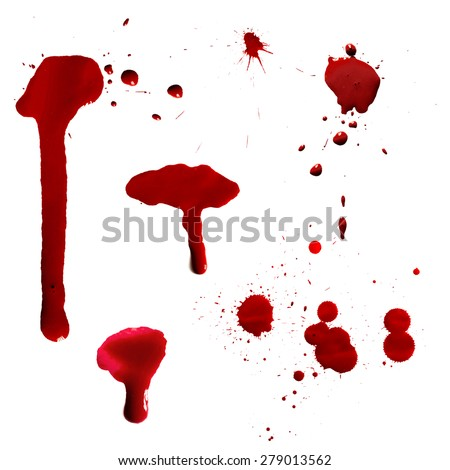 vector red ink stain  blots and