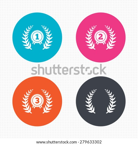 circle buttons laurel wreath