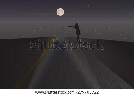 night stranger vector