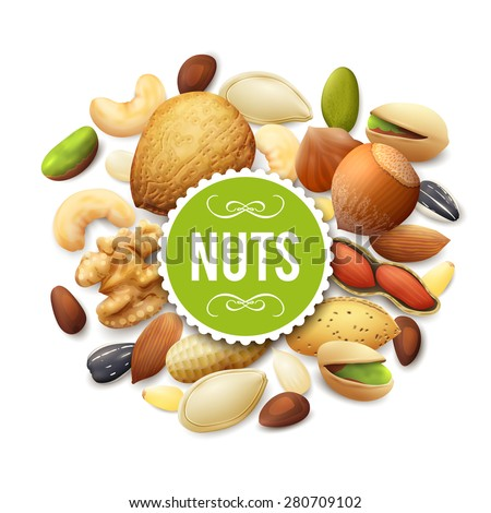 nut collection with raw food