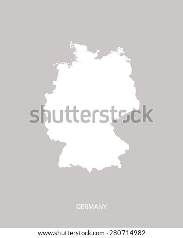 germany map outlines in faded