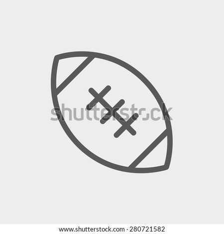 football ball icon thin line