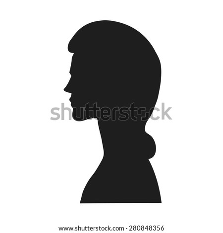vector profile of a woman user