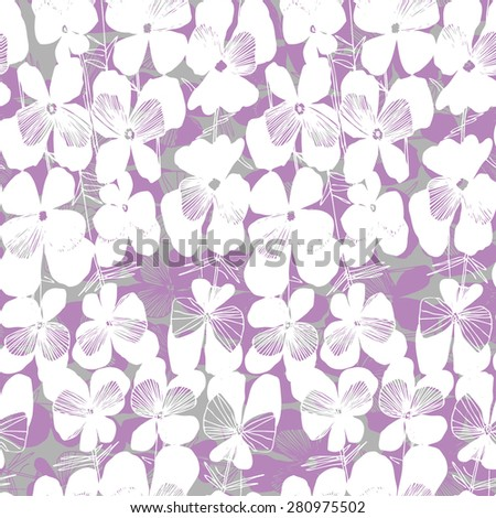 vector pattern with white hand