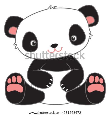 cute cartoon teddy bear panda