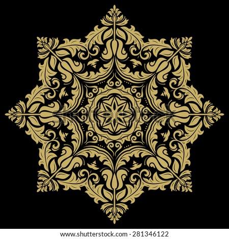 damask vector floral pattern