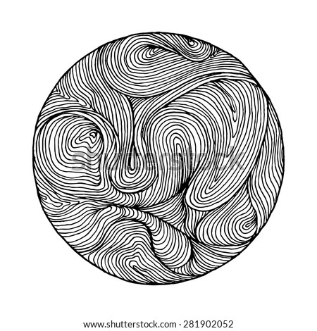 black and white circle wave