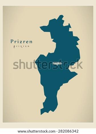 modern map   prizren rs