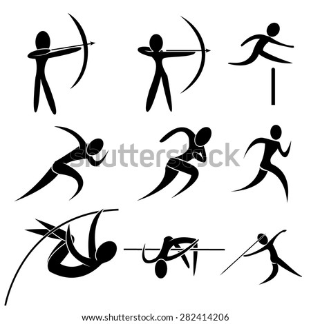 set of sport icon archery