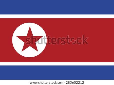 reflection flag north korea