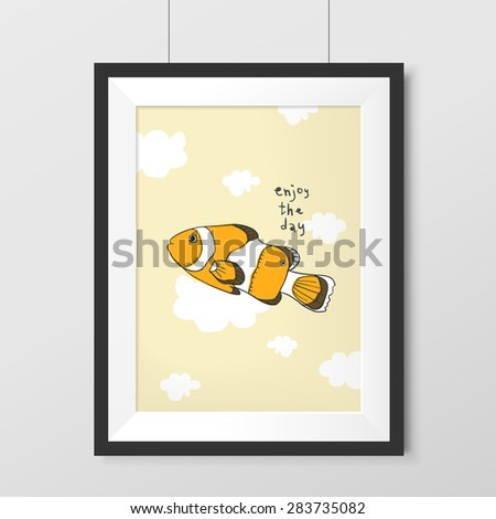 lovely tropical fish graphic