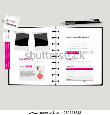 website template open notepad