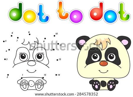 funny and cute panda vector