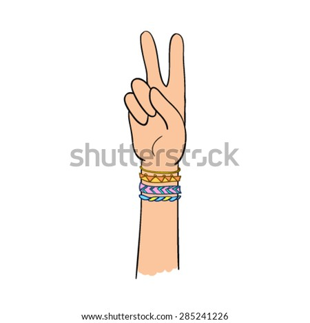 thumb finger rock on vector hand