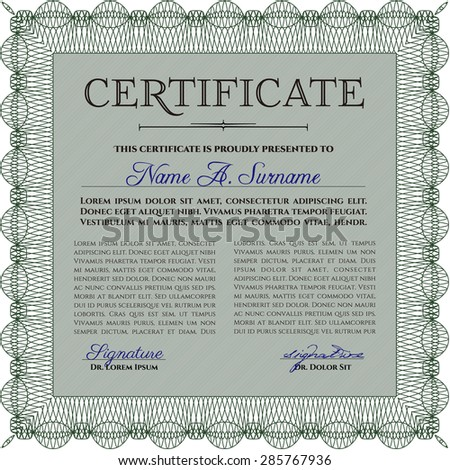 certificate complex background