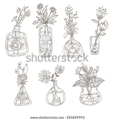 flower vases seamless colored