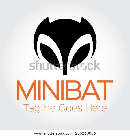 a simple black design of bat's