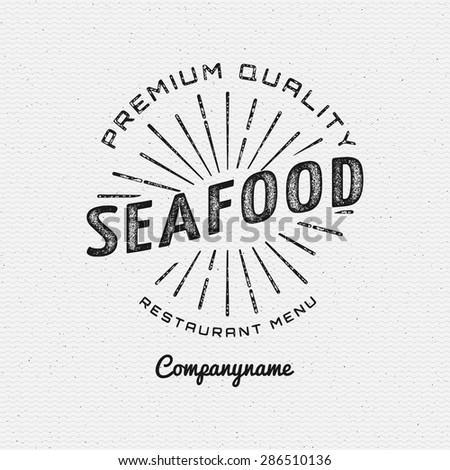 seafood badges logos and labels