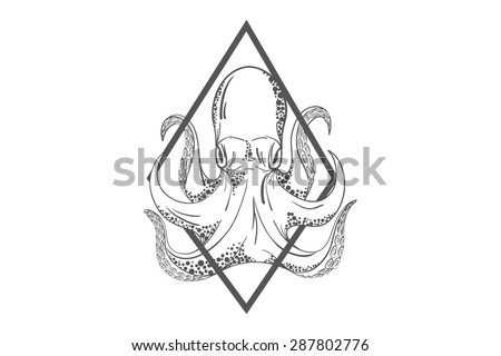 octopus in deep template for