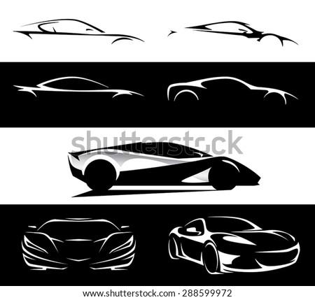 conceptual supercar silhouette