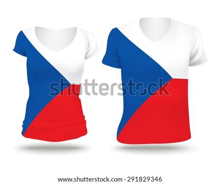 flag shirt design of czech