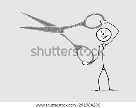 one smiling man holding large