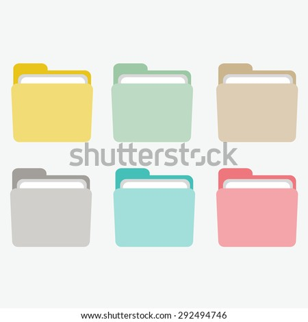 colourful folders on the white