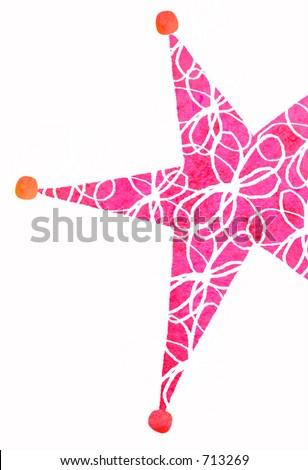 vector silhouette of fairy girl