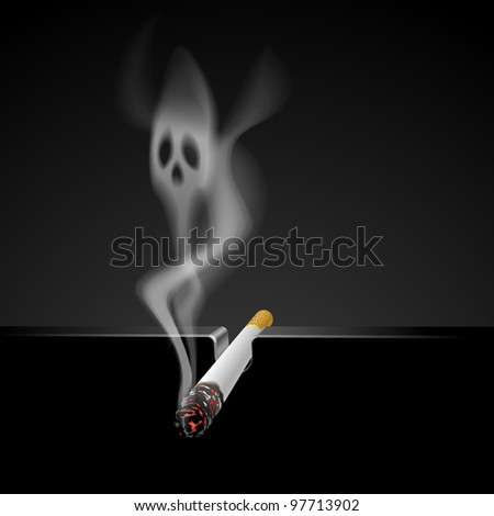 smoking kills  cigarette with