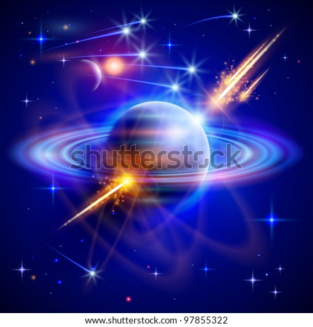 magical space   stars  planets