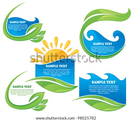 summer nature  vector