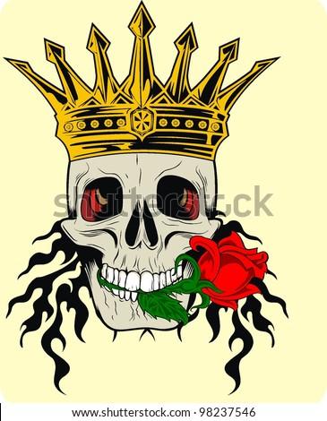 flower king skull