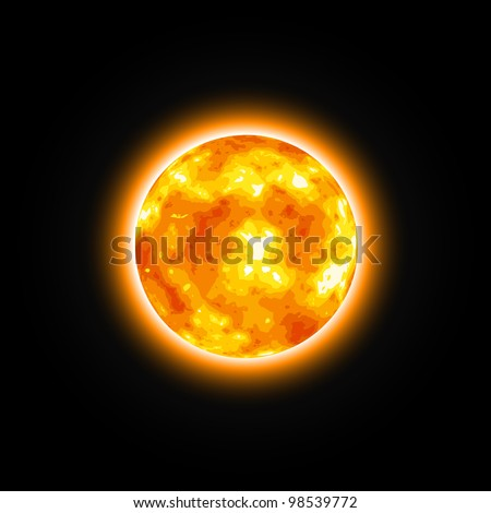 red star shiny sun vector