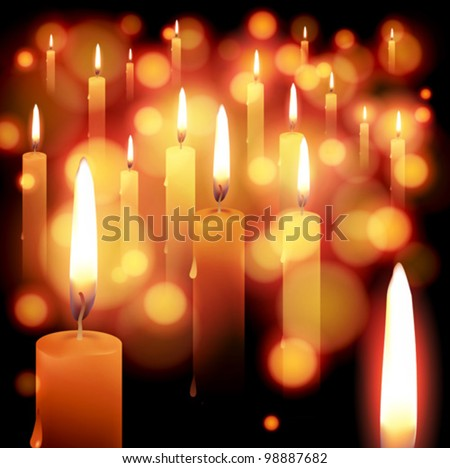 candle light holiday background