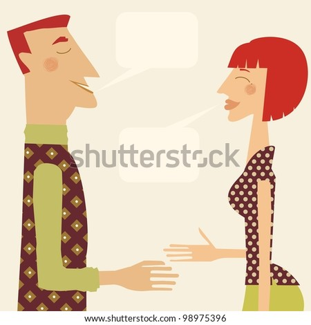 man and woman greeting each