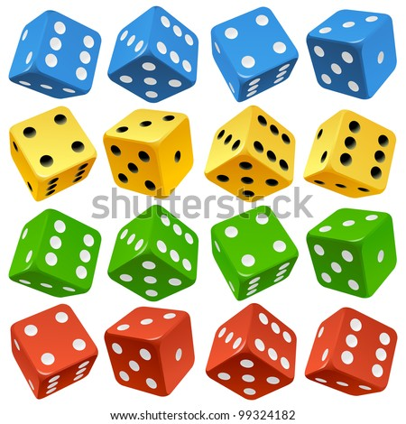 game dice set vector red