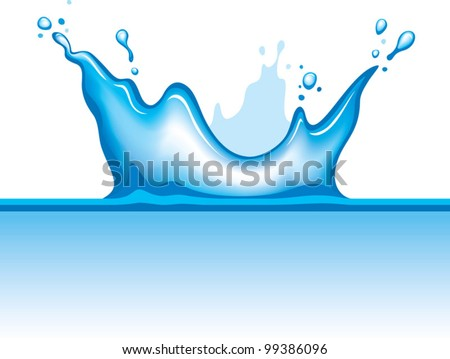 water splash  object dropping