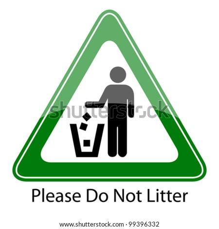 do not litter vector sign