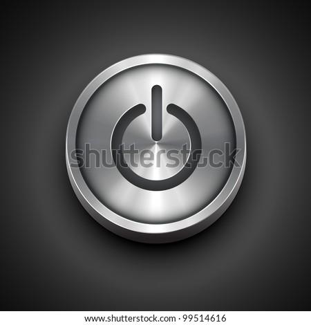 vector power metallic icon
