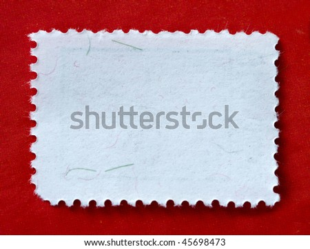 A blank stamp templates ready to be filled with your photos - stock photo