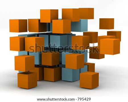 #2 - a 3d render series showing change and motion - stock photo