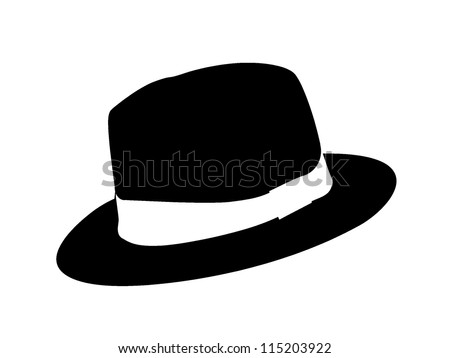 A fedora hat style. Clip art or illustration. - stock photo