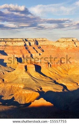 A grandiose landscape of the Grand Canyon in the USA - stock photo