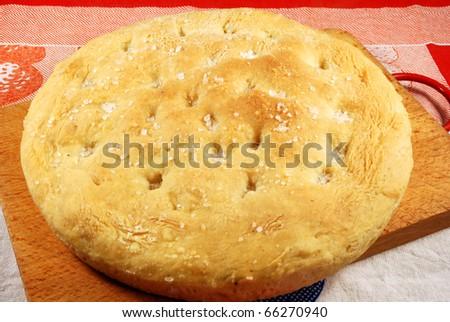 004 - A homemade cake leavened baked - stock photo