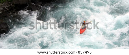 a kayaker - stock photo